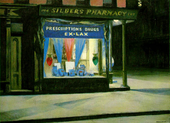 『Drug Store』(1927)_hopper