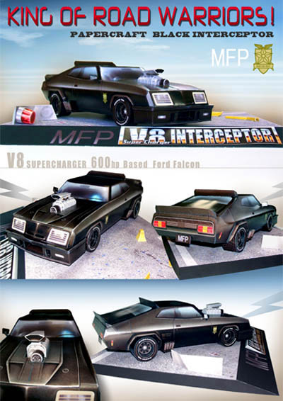 Papercraft de Mad Max - Interceptor V8.